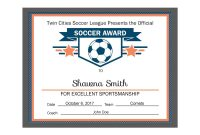 Editable Pdf Sports Team Soccer Certificate Award Template In inside Soccer Award Certificate Template