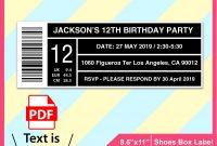 Editable Shoes Box Label Template Invitation Template Pdf  Etsy with regard to 4 X 2.5 Label Template
