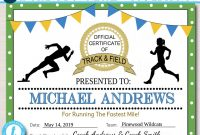 Editable Track  Field Award Certificates Instant Download Track Awards  Track Party Printable Printable Award Sports Runner Certificates with regard to Track And Field Certificate Templates Free