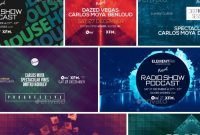Electronic Music Event Facebook Post Banner Templates Psd Bundle within Event Banner Template