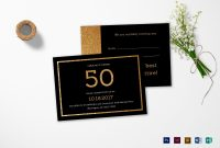 Elegant Black And Gold Th Birthday Invitation Design Template In throughout Birthday Card Template Indesign