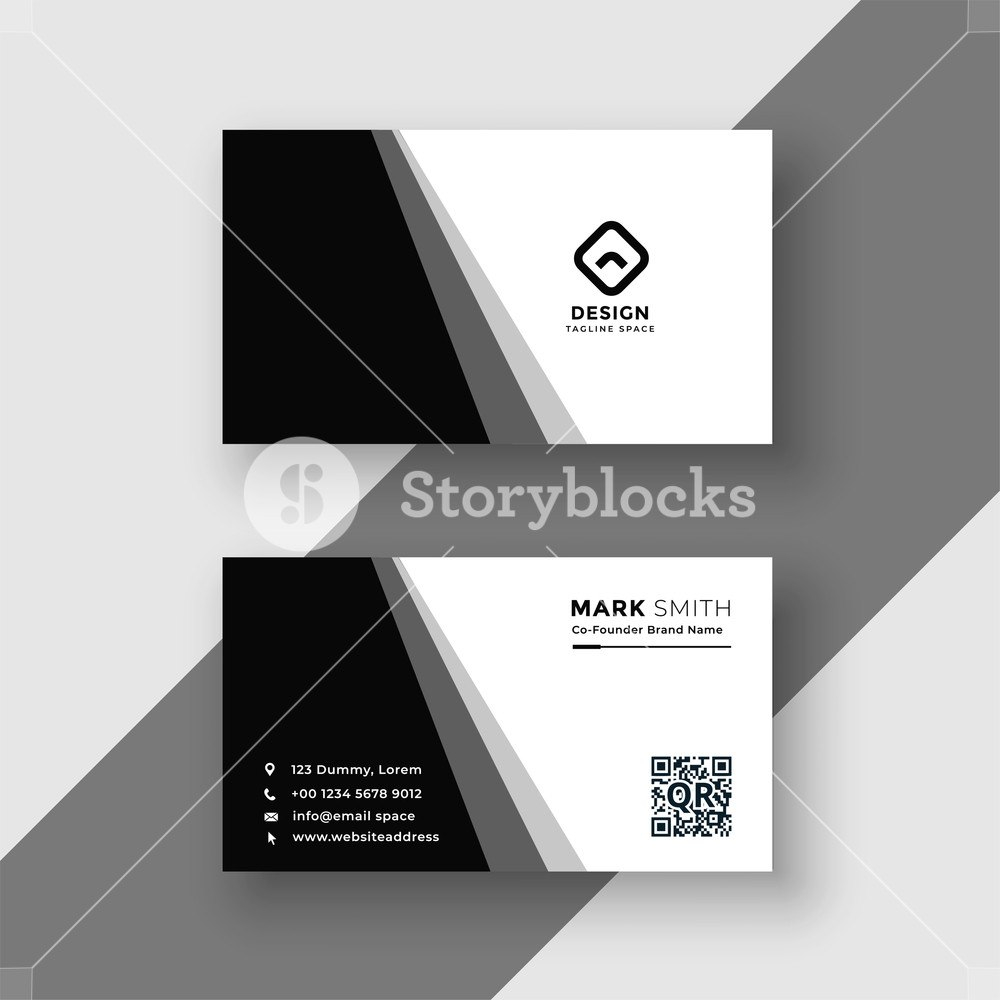 Elegant Black And White Business Card Template Royaltyfree Stock Intended For Black And White Business Cards Templates Free