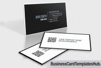 Elegant Black And White Qr Code Business Card Template  Youtube throughout Qr Code Business Card Template