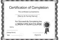 Elegant Certificate Of Completion Template Royalty Free Cliparts inside Elegant Certificate Templates Free