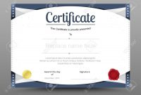 Elegant Certificate Template Business Certificate Formal Theme pertaining to Elegant Certificate Templates Free