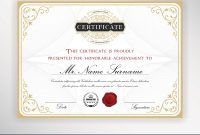 Elegant Certificate Template Design Royalty Free Vector with Elegant Certificate Templates Free