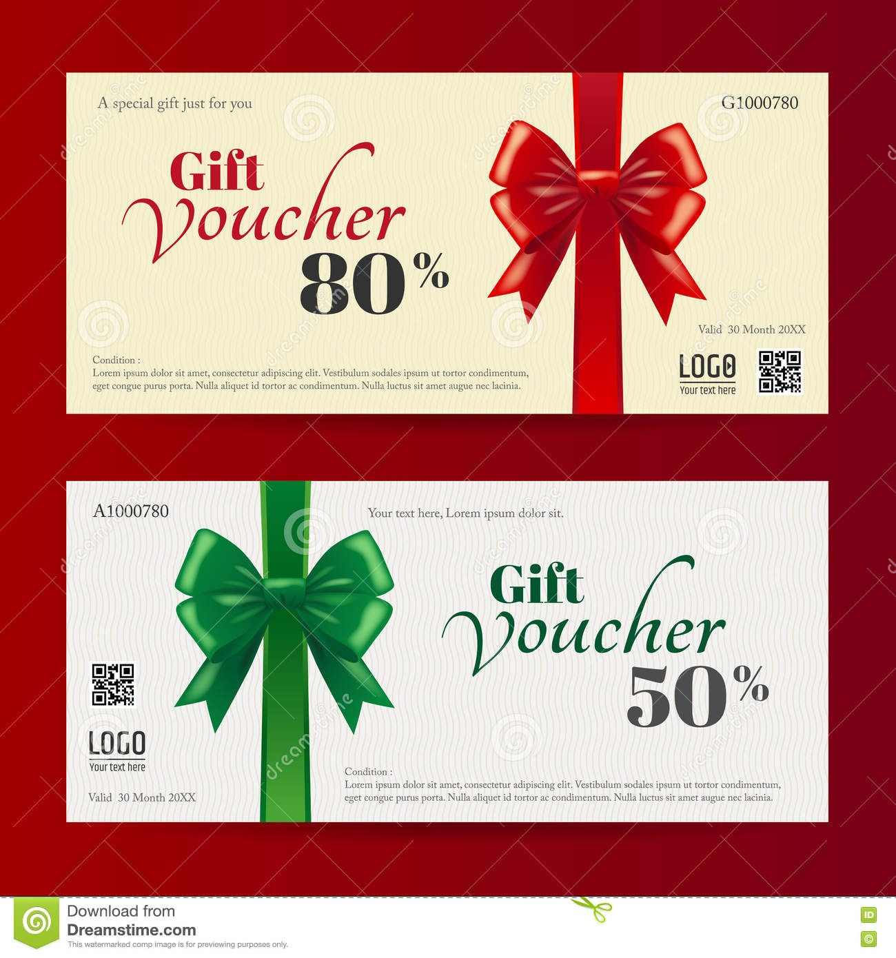 Elegant Christmas Gift Card Or Gift Voucher Template Stock Vector Throughout Free Christmas Gift Certificate Templates