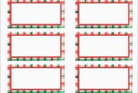 Elegant Free Christmas Return Address Label Templates  Per Sheet within Christmas Return Address Labels Template