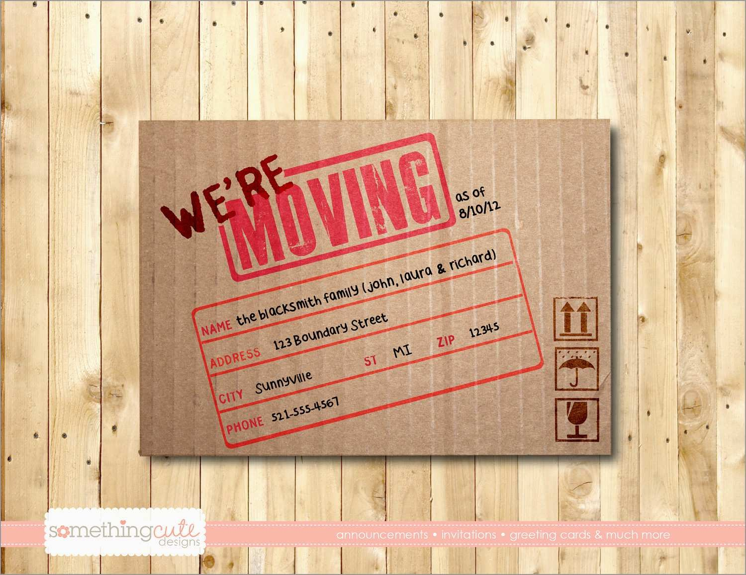 Elegant Free Printable Moving Announcement Templates  Best Of Template Inside Moving House Cards Template Free