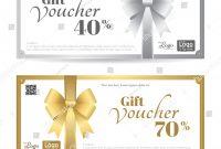 Elegant Gift Card Gift Voucher Template Stockvektorgrafik pertaining to Elegant Gift Certificate Template