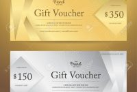Elegant Gift Voucher Or Gift Card Or Coupon Template For Discount inside Elegant Gift Certificate Template