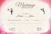 Elegant Marriage Certificate Design Template In Psd Word with regard to Certificate Of Marriage Template