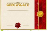 Elegant Template Of Certificate Diploma Stock Illustration with regard to Elegant Certificate Templates Free