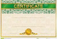 Elegant Template Of Certificate Diploma Stock Vector  Illustration for Elegant Certificate Templates Free