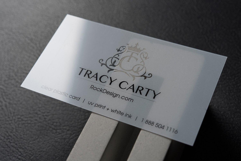 Elegant Transparent Plastic Name Card Design – Tracy Carty Inside Transparent Business Cards Template