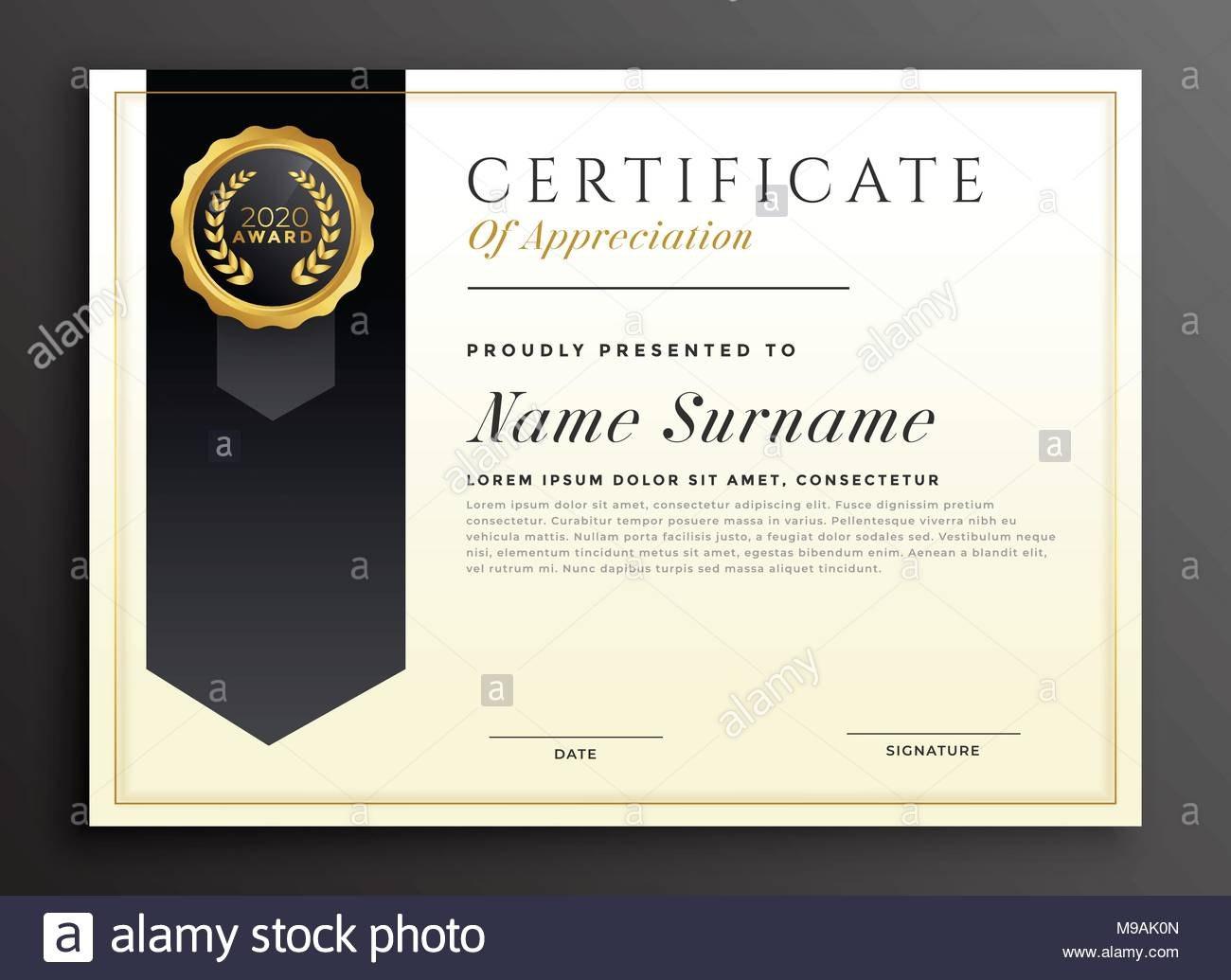 Elegante Diplom Award Certificate Template Design Vektor Abbildung Intended For Professional Award Certificate Template