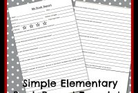Elementary Level Book Report Template – Teach Beside Me regarding Story Report Template