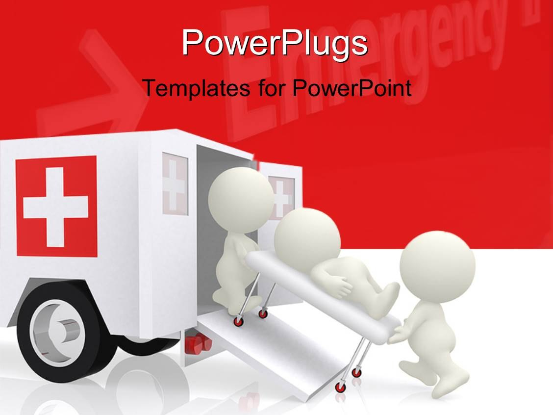 Emergency Powerpoint Templates W Emergencythemed Backgrounds Within Ambulance Powerpoint Template