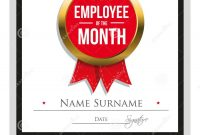Employee Award Certificate Template Free Templates Design The Month with regard to Employee Of The Year Certificate Template Free