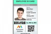 Employee Badge Template Vertical Id Card Ships Same Day intended for Free Id Card Template Word