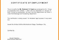 Employee Certificate Of Employment With Salary Luxury Employee in Employee Certificate Of Service Template