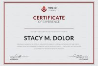 Employee Experience Certificate Design Template In Psd Word with regard to Certificate Of Experience Template