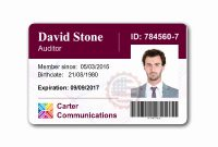 Employee Id Card Template Ideas Business Maker Beautiful intended for Work Id Card Template