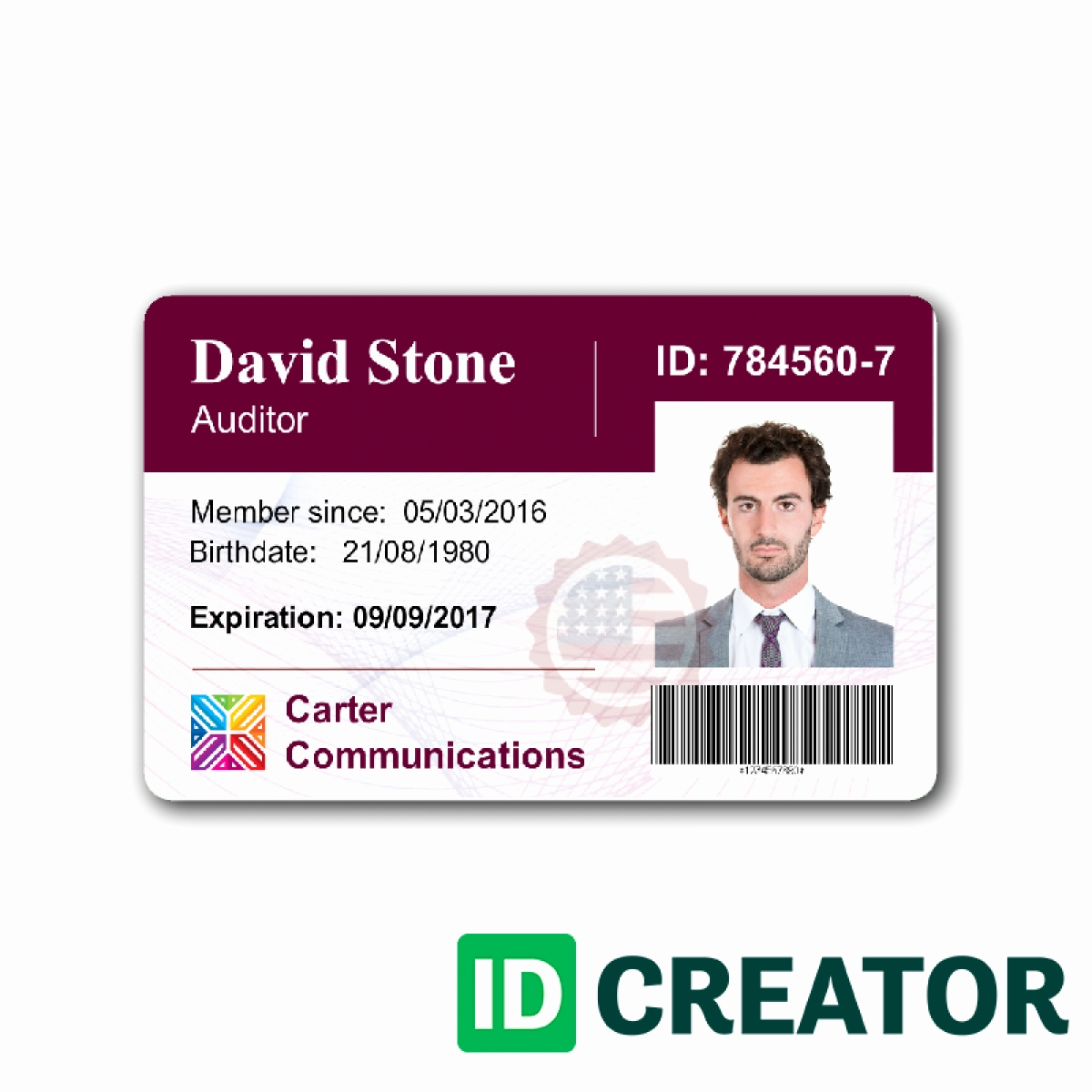 Employee Id Card Template Ideas Business Maker Beautiful Pertaining To Id Card Template For Microsoft Word