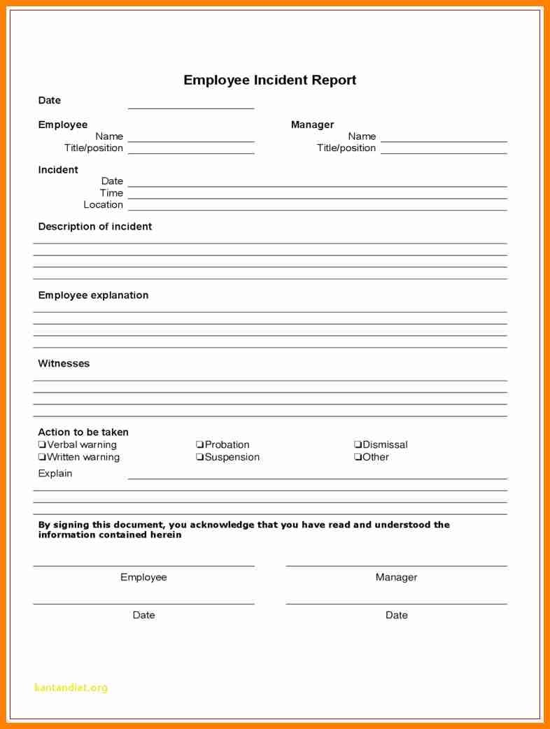 Employee Incident Report Form  This Is Charlietrotter Regarding Construction Accident Report Template