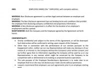 Employee Non Disclosure Agreement  Career  Non Disclosure with regard to Word Employee Confidentiality Agreement Templates