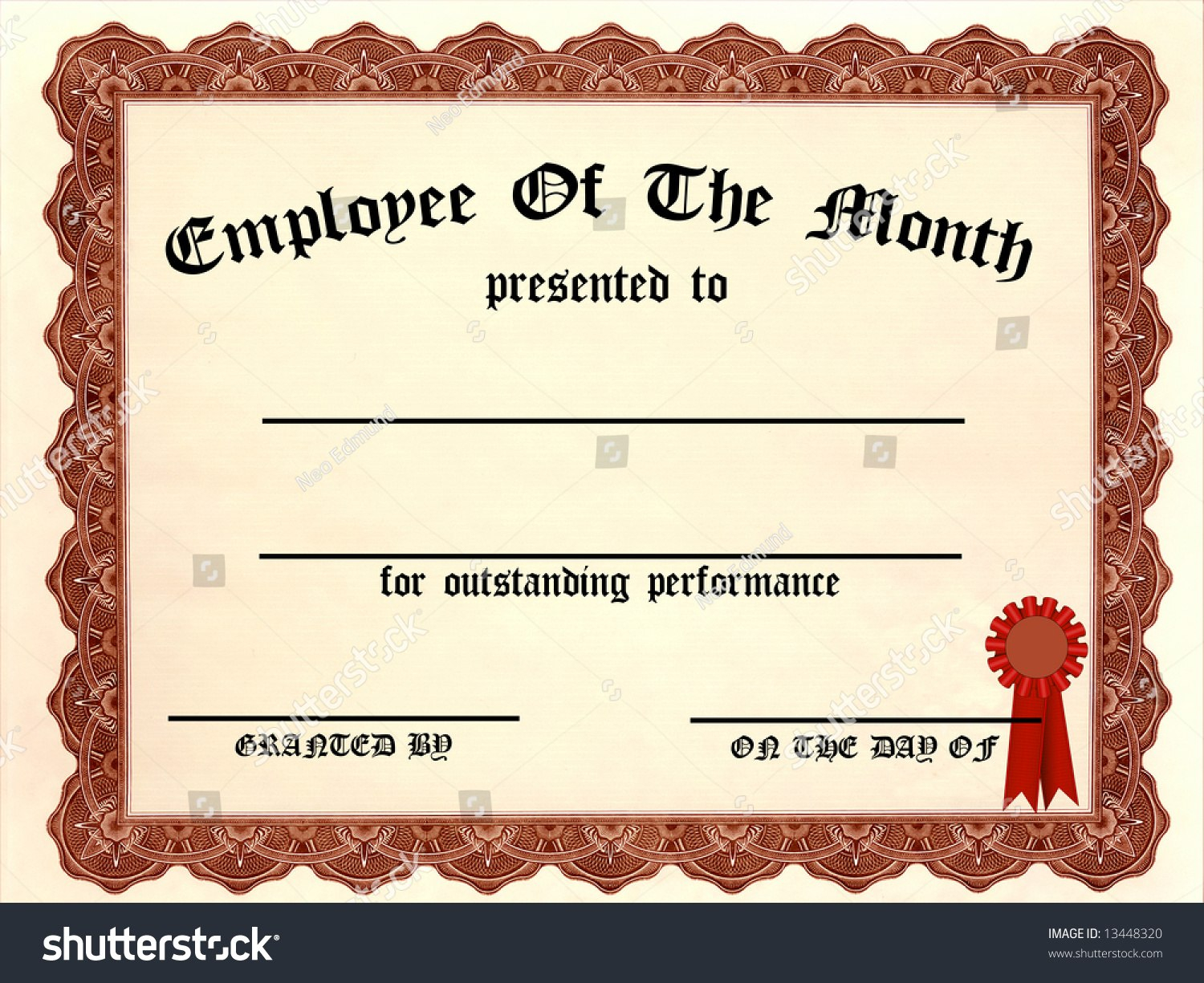 Employee Of The Month Certificate  This Is Charlietrotter Pertaining To Employee Of The Month Certificate Templates