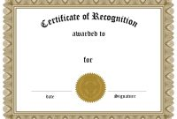 Employee Recognition Award Certificate Template  Dtemplates inside Employee Recognition Certificates Templates Free