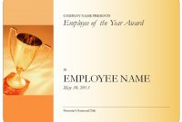 Employeeoftheyearcertificateblank inside Employee Of The Year Certificate Template Free