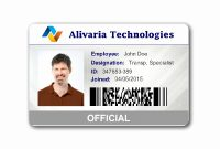 Employees Id Card Template Ideas Business Maker Elegant Employee intended for Id Card Template Ai