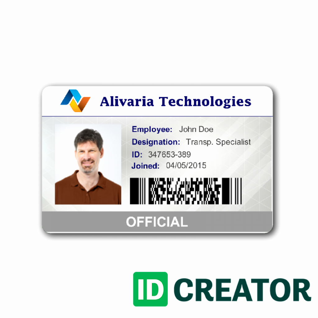 Employees Id Card Template New  Id Card Templates Psd Eps Png Intended For Work Id Card Template