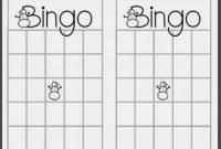 Empty Bingo Card  Template Business inside Blank Bingo Card Template Microsoft Word