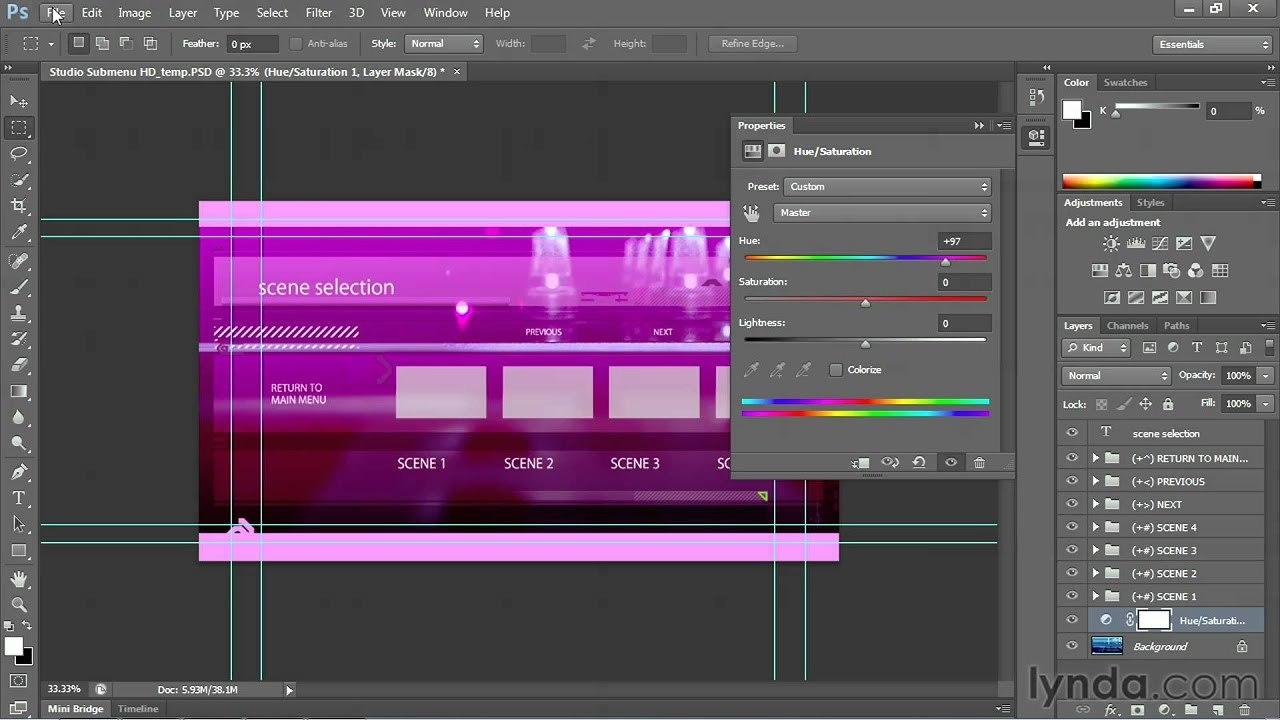 Encore Tutorial Customizing Dvd Menus  Lynda  Youtube For Adobe Encore Menu Templates