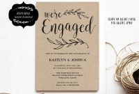 Engagement Invitation Template Printable Engagement Party intended for Engagement Invitation Card Template