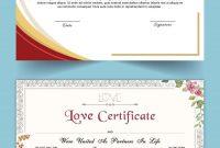 Entry Satishandsurabhi For Design A Love Certificate Template with Love Certificate Templates