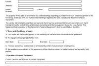 Equipment Loan Agreement Templates  Pdf Word  Free  Premium regarding Laptop Loan Agreement Template