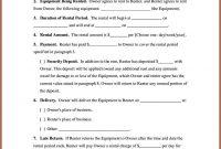 Equipment Rental Agreement Template Ideas Form throughout Music Equipment Rental Agreement Template