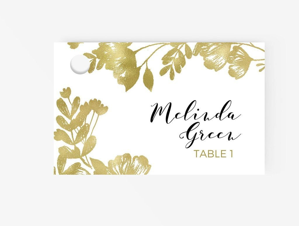 Escortplace Cards Editable Ms Word Template Diy  Floral Black And In Ms Word Place Card Template