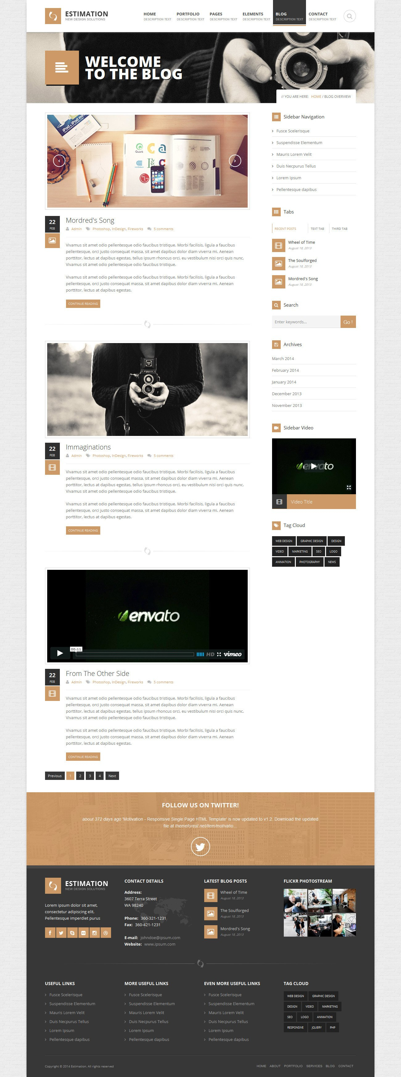 Estimation  Responsive Business Html Templatehedgehogcreative Inside Estimation Responsive Business Html Template Free Download