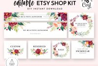 Etsy Shop Banner Set Etsy Shop Kit Etsy Shop Graphics Store  Etsy within Etsy Banner Template