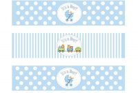 Etsyprintable Baby Shower Boy Theme Water Bottledesignsbydvb within Free Water Bottle Labels For Baby Shower Template
