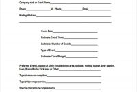 Event Inquiry Form Samples  Free Sample Example Format Download within Enquiry Form Template Word
