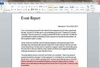 Event Report Template Word  Business Opportunity Program in Post Event Evaluation Report Template