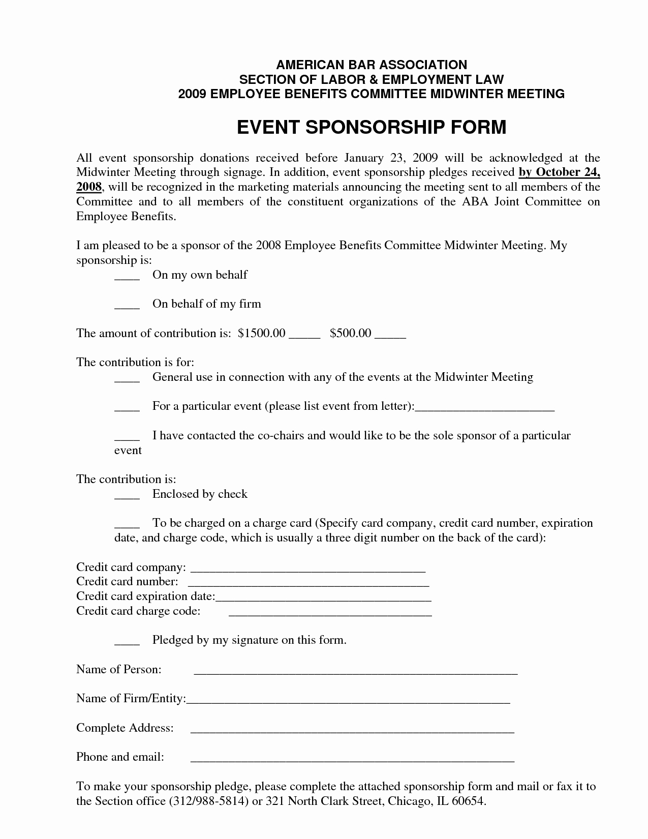 Event Sponsorship Form Template Sponsor Forms Luxury Best S Of Pertaining To Sponsor Card Template