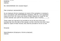 Example Of Incident Report Letter For Security Guard  Sansu for How To Write A Work Report Template