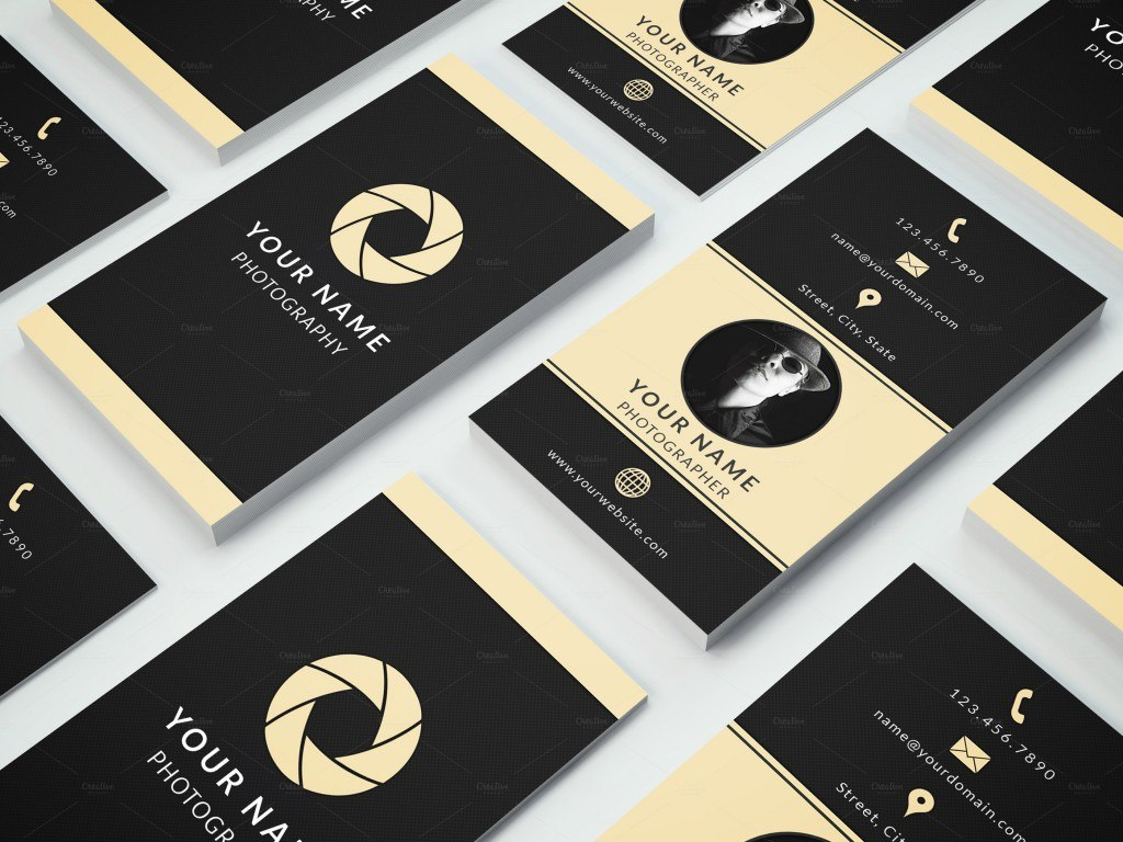Examples Of A Stylish Business Card Photoshop Template Inside Name Card Template Photoshop